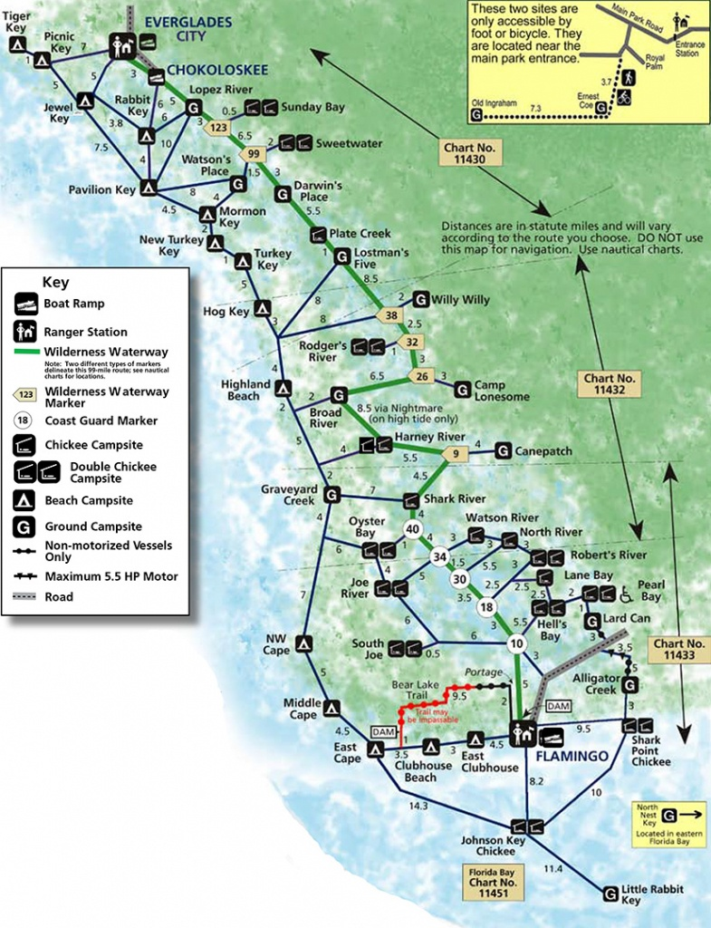 Everglades National Park | Backcountry Camping | - Florida Camping Map