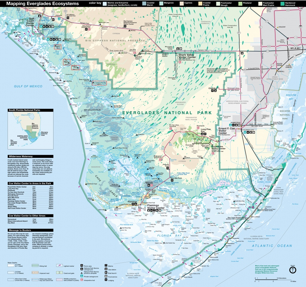 Everglades National Park | Park Map | - Map Of Florida Showing The Everglades