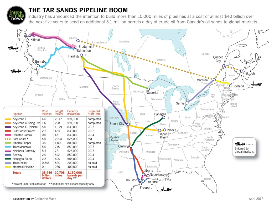 Exclusive Map: The Tar Sands Pipeline Boom   Insideclimate News - Keystone Pipeline Map Texas