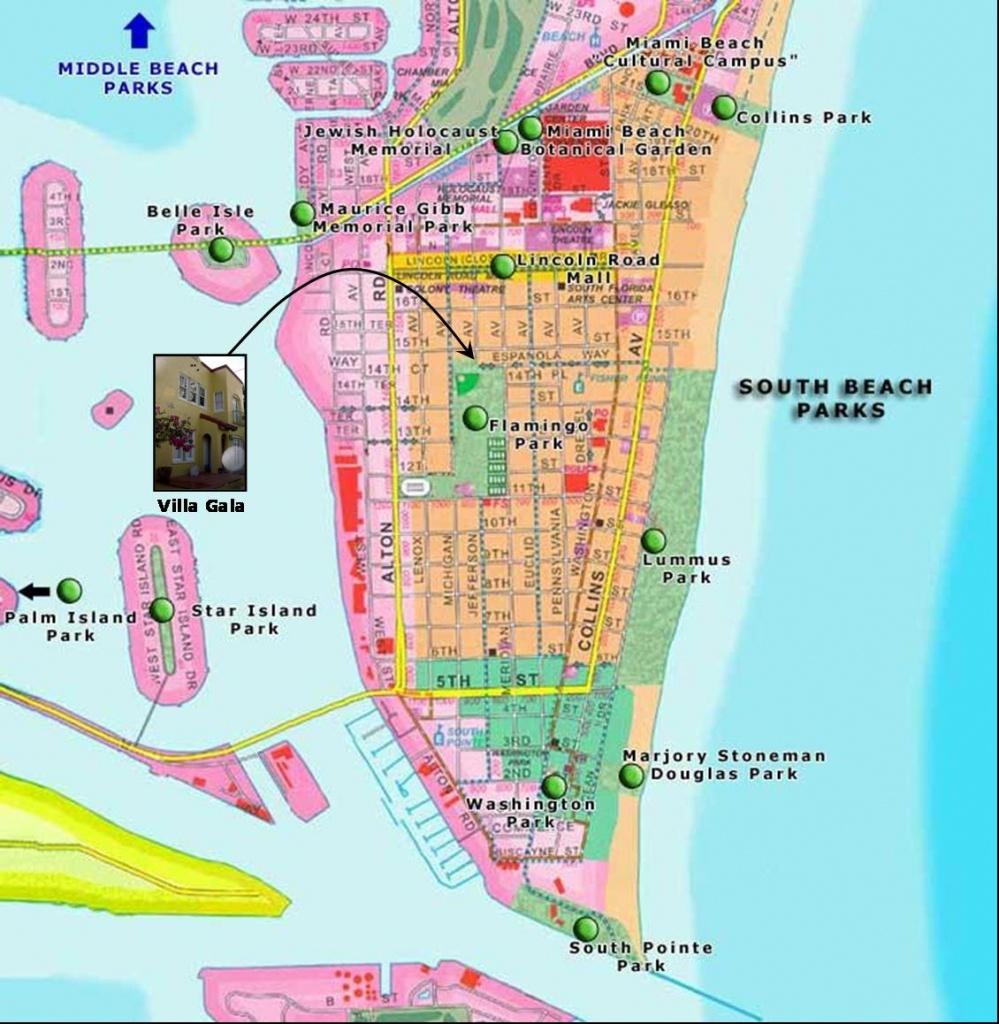 Exotic Places: South Beach Miami - Map Of South Beach Miami Florida