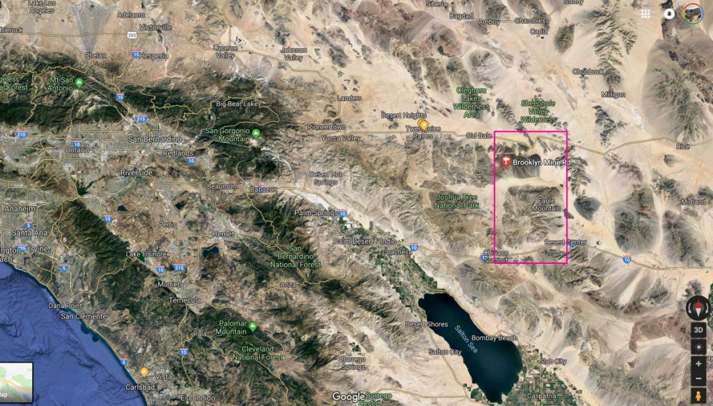 Exploring Southern California's Abandoned Minesjeep Trail - Map Of Abandoned Mines In California