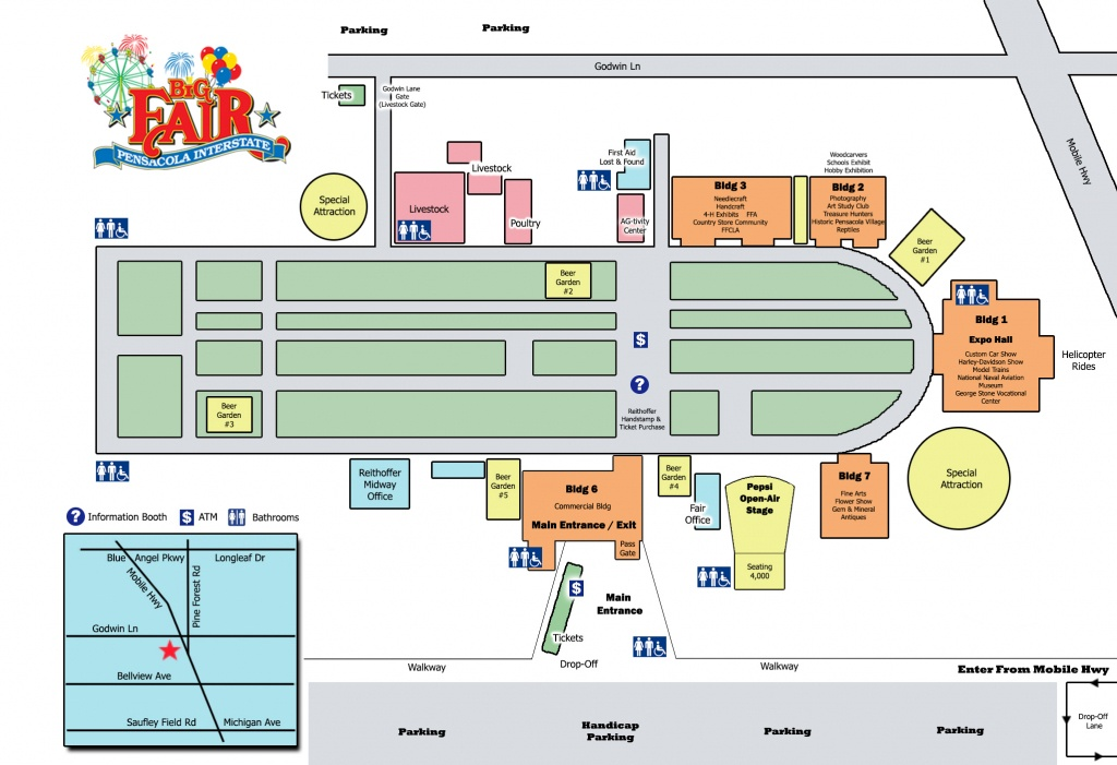 Fairgrounds Map : Pensacola Interstate Fair - Florida State Fairgrounds Map