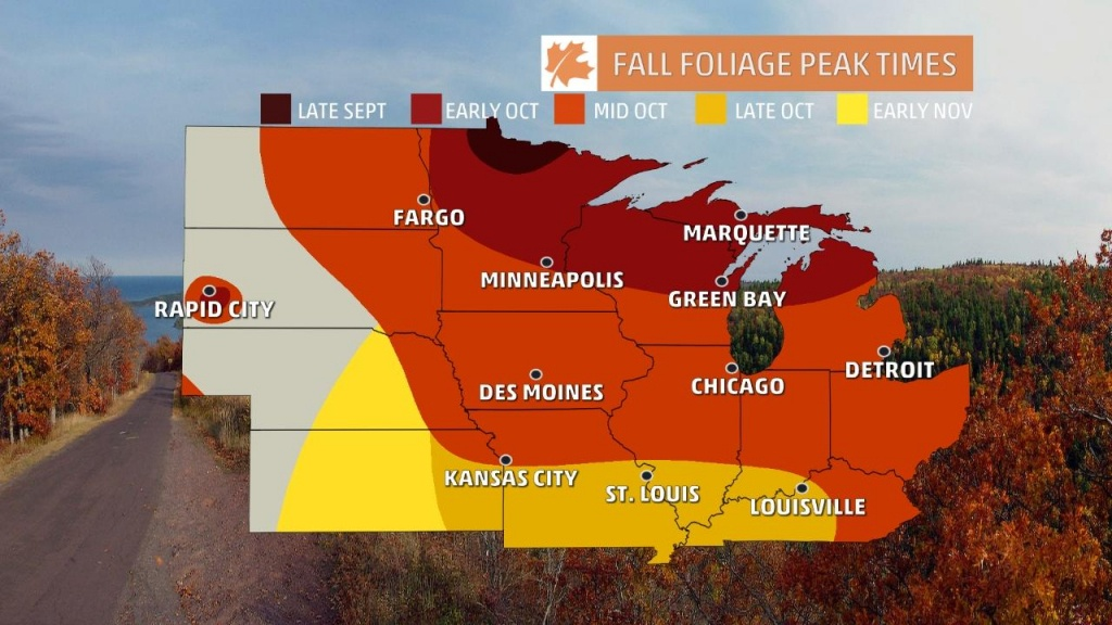 Fall Foliage Finder - Following Fall - California Fall Color Map