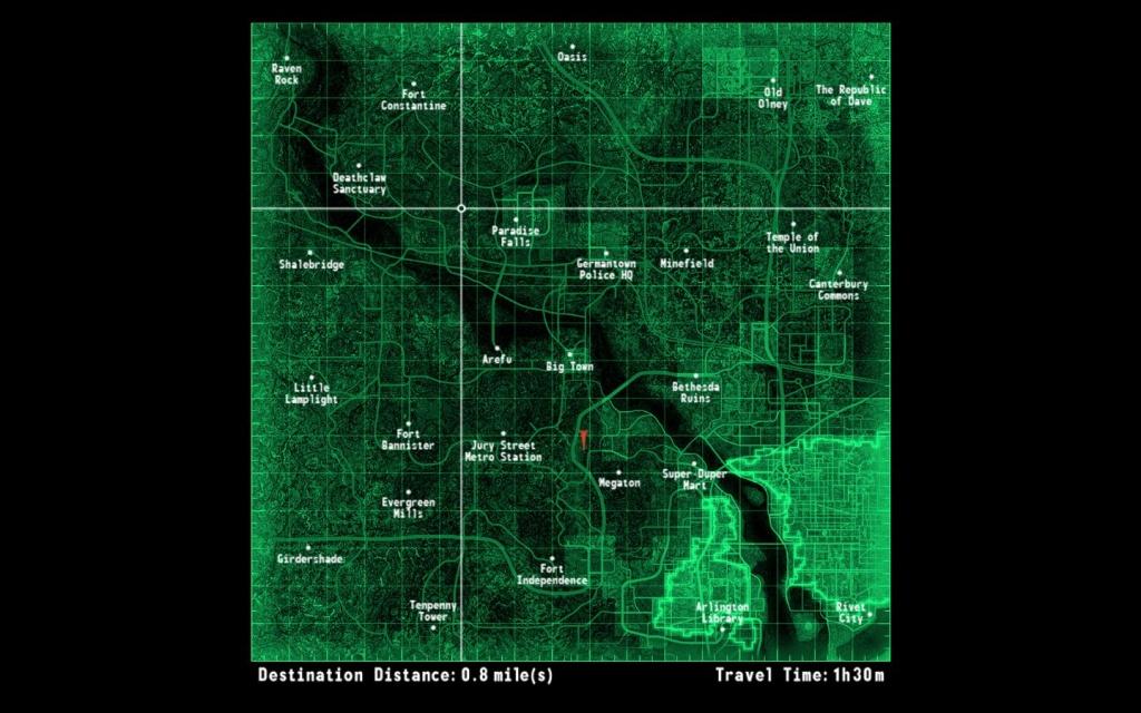 Fallout 3 Map - Google Search | Maps | Fallout, Fallout 3, Map - Fallout 3 Printable Map