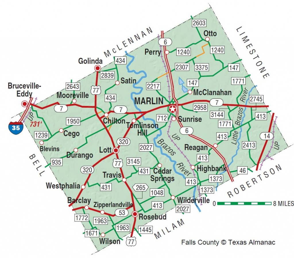 Falls County   The Handbook Of Texas Online  Texas State Historical - Where Is Marble Falls Texas On The Map
