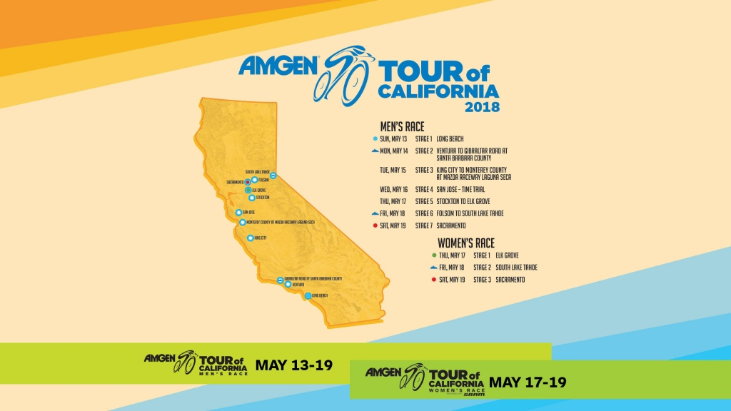 Featured Wallpapers   Amgen Tour Of California - Tour Of California 2018 Map