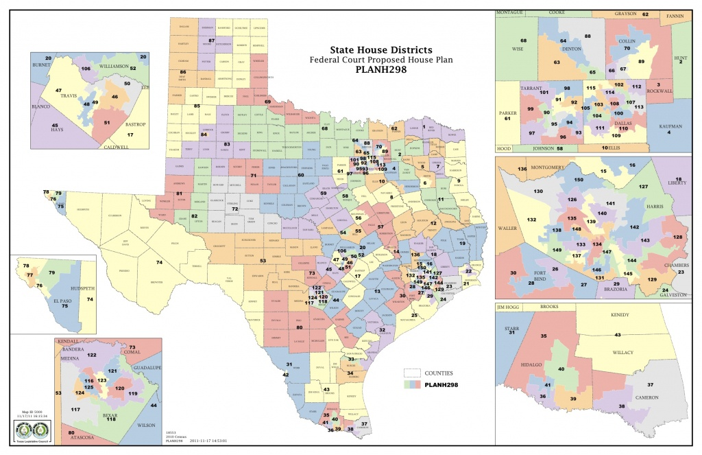 Federal Judges Propose Maps For Texas Legislative Races | The Texas - Texas District Map