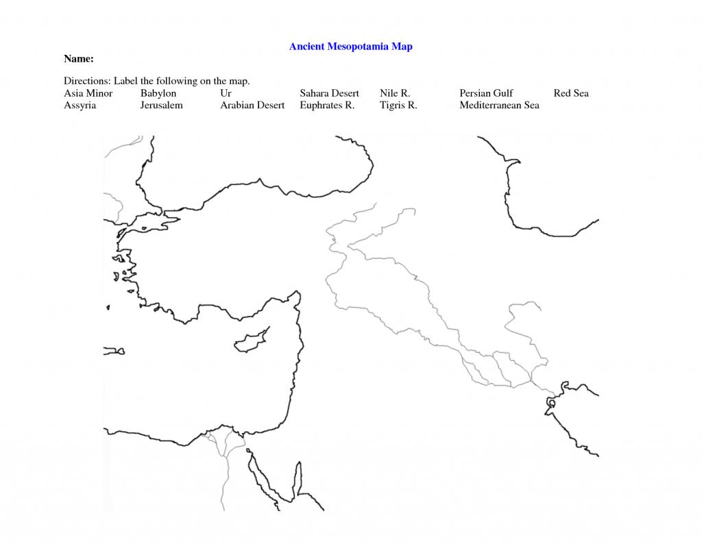 Fertile Crescent Map Worksheet - Google Search   World History 9 - Fertile Crescent Map Printable