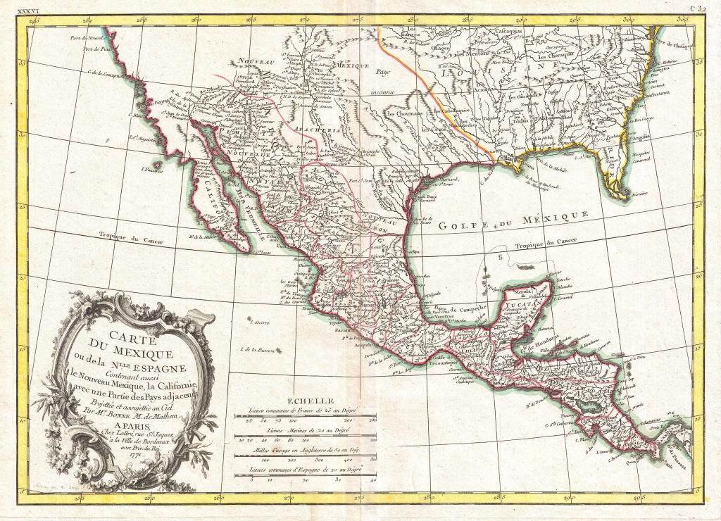 File:1771 Bonne Map Of Mexico (Texas), Louisiana And Florida - Florida Louisiana Map
