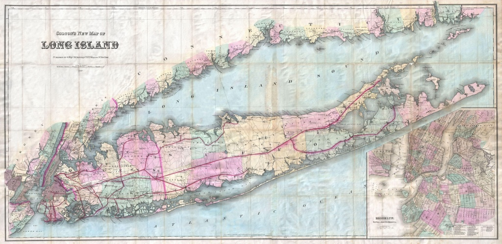 File:1880 Colton Pocket Map Of Long Island - Geographicus - Printable Map Of Long Island Ny