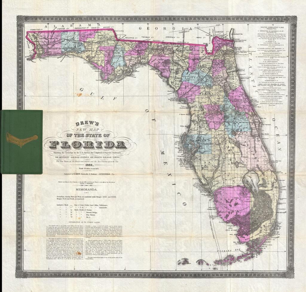 File:1884 Drew Pocket Map Of Florida - Geographicus - Florida-Drew - Florida Old Map