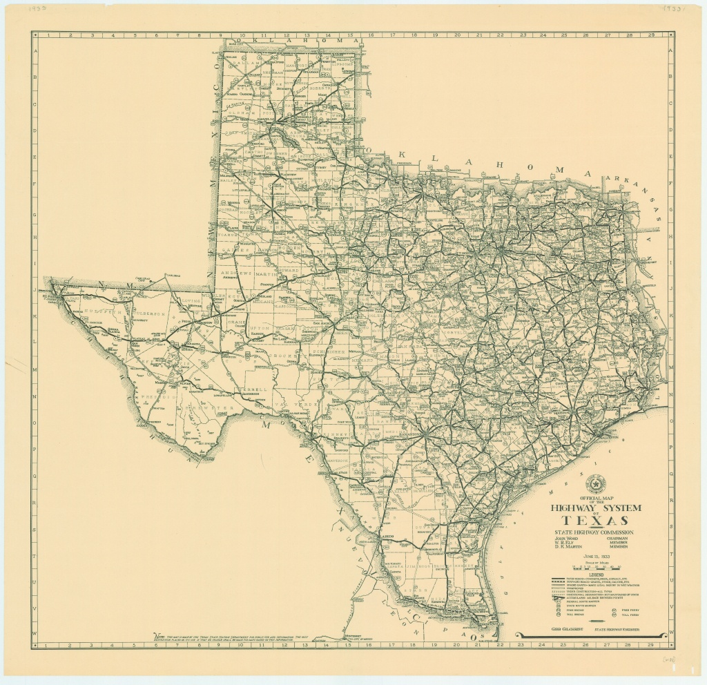 File:1933 Texas State Highway Map - Wikimedia Commons - Texas Road Map Free