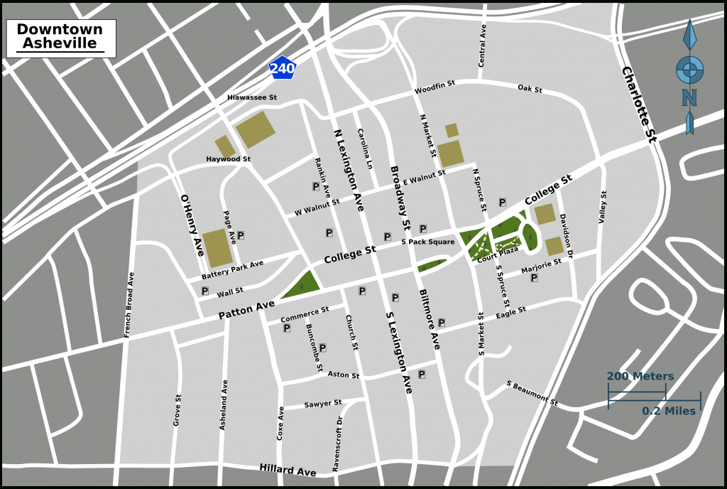 File:asheville Downtown Map - Wikimedia Commons - Printable Map Of Asheville Nc
