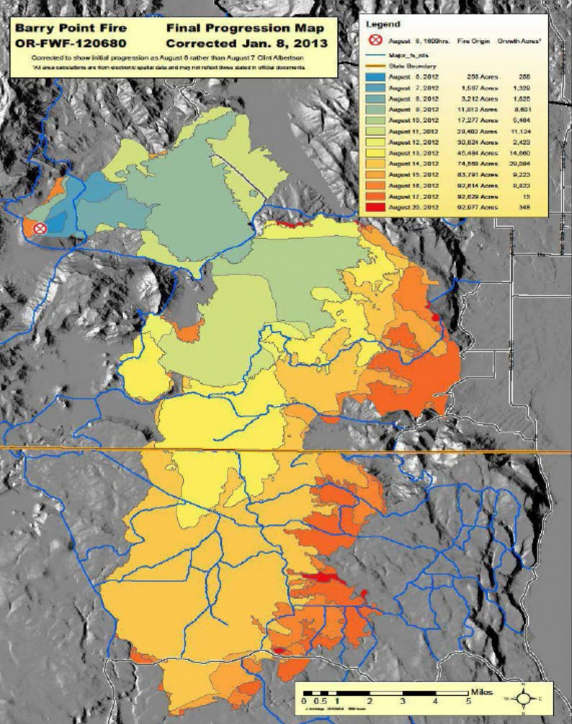 File:barry Point Fire Map, Oregon And California, 2012 - California Oregon Fire Map