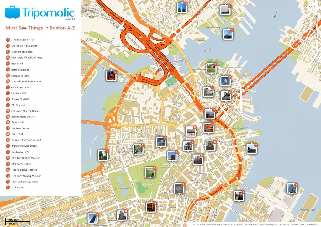 File:boston Printable Tourist Attractions Map - Wikimedia Commons - Boston City Map Printable