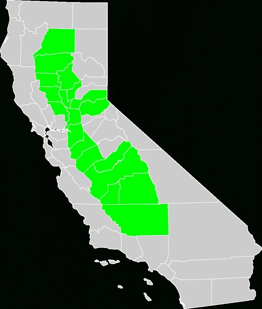 File:california Central Valley County Map.svg - Wikimedia Commons - California Valley Map