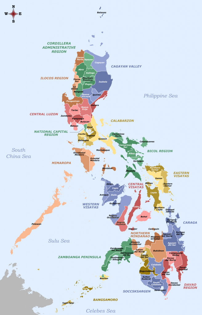 File:labelled Map Of The Philippines - Provinces And Regions - Printable Quezon Province Map