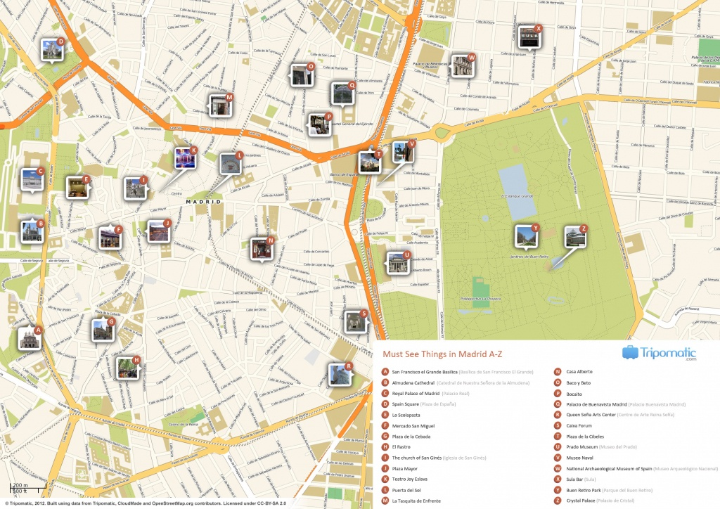 File:madrid Printable Tourist Attractions Map - Wikimedia Commons - Printable Map Of Madrid