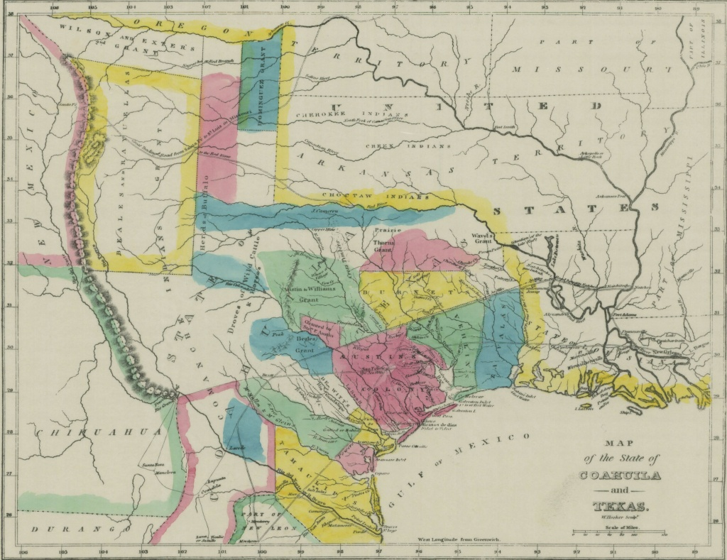 File:map Of Coahuila And Texas In 1833 - Wikimedia Commons - Rule Texas Map