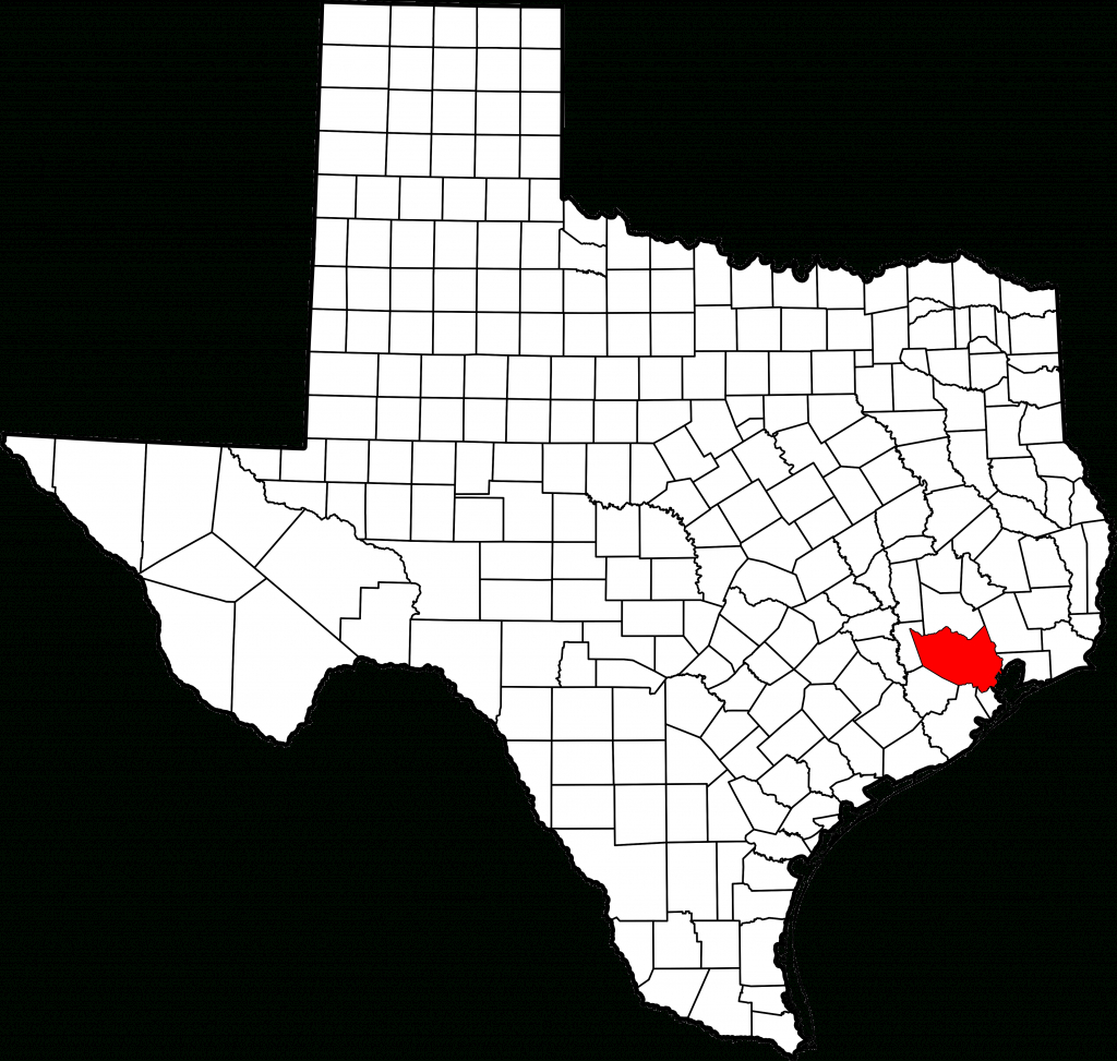 File:map Of Texas Highlighting Harris County.svg - Wikimedia Commons - Harris County Texas Map