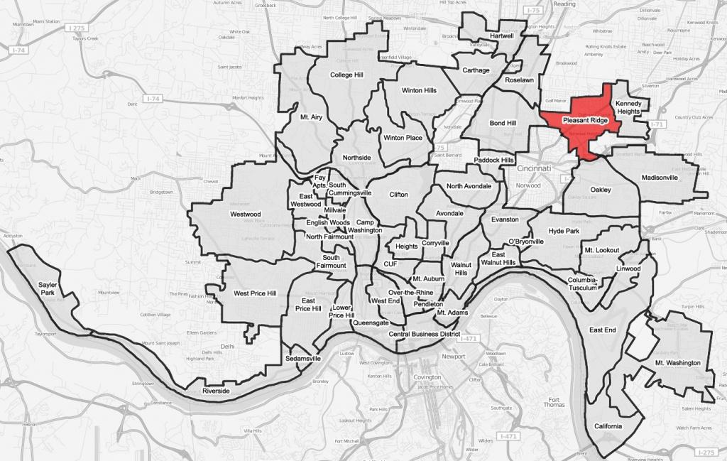 File:pleasant-Ridge-Cincinnati-Map - Wikimedia Commons - Printable Cincinnati Map