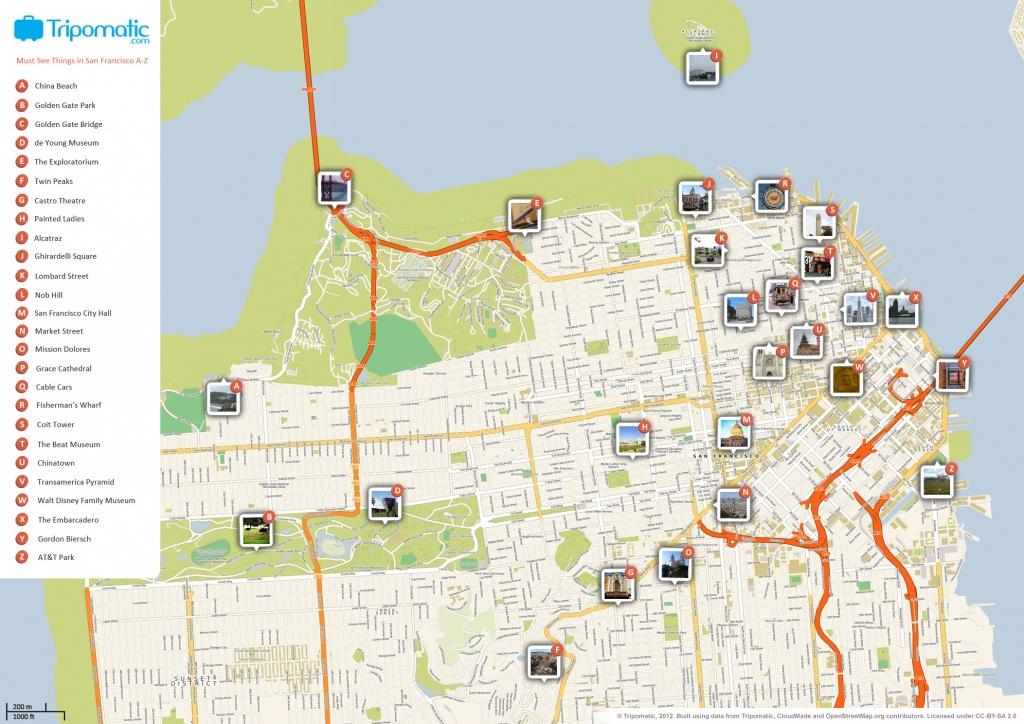 File:san Francisco Printable Tourist Attractions Map - Wikimedia - San Francisco City Map Printable