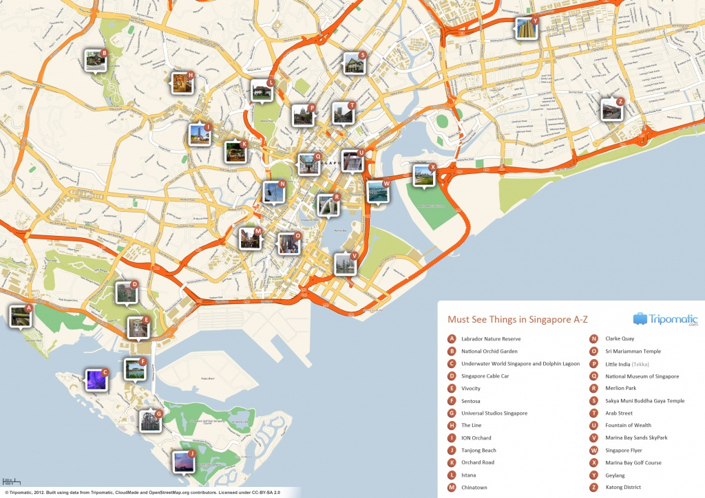 File:singapore Printable Tourist Attractions Map - Wikimedia Commons - Singapore City Map Printable