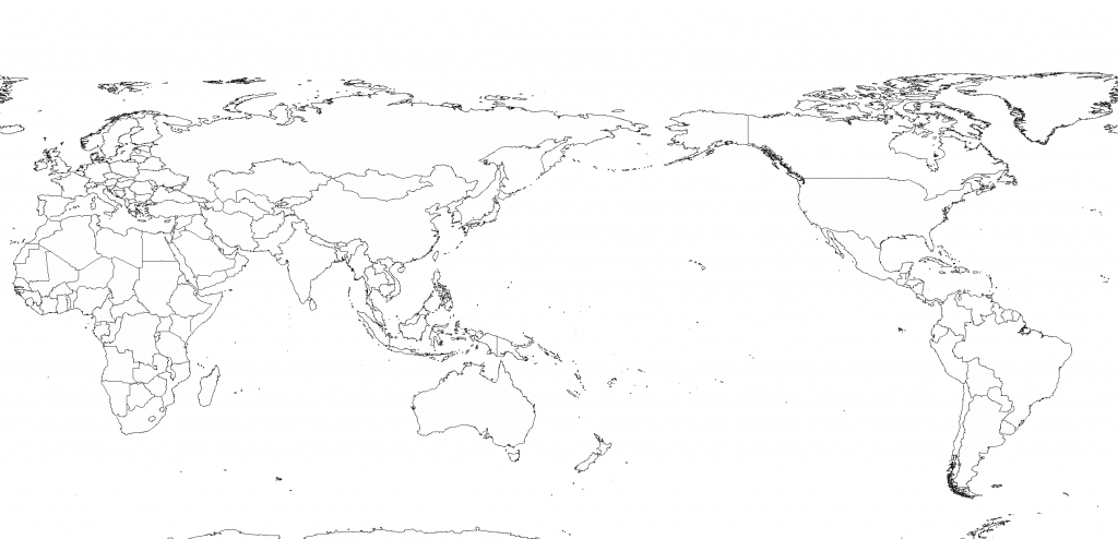 File:white World Map(Pacfic-Centered) Blank - Wikimedia Commons - Printable World Map Pacific Centered