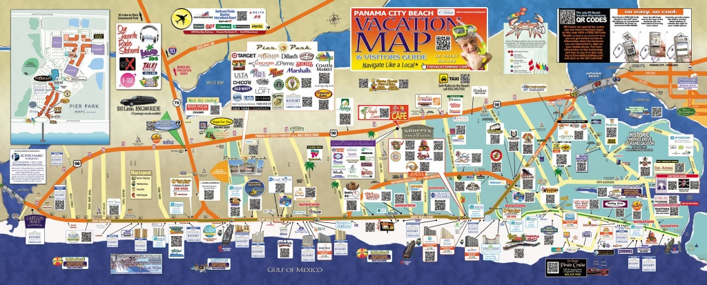 Find Some Of The Top Bars, Hotels, Restaurants, And Attractions - Map Of Panama City Beach Florida