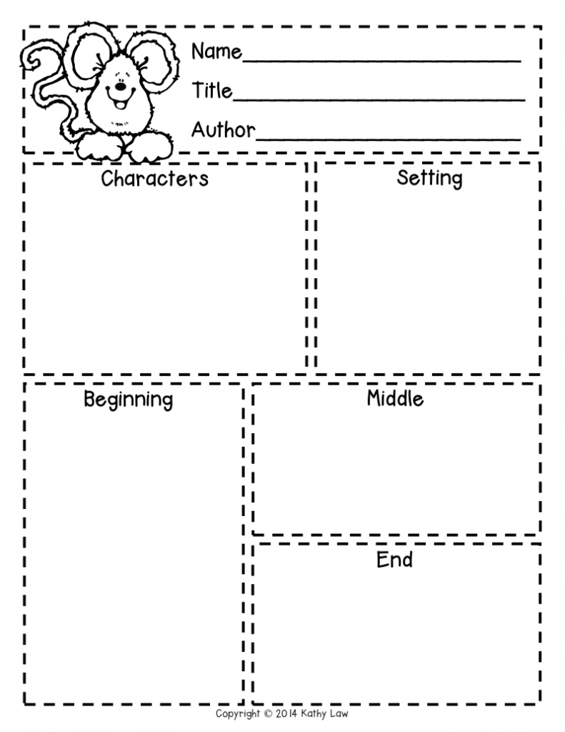 First Grade A La Carte: Story Elements Freebie | Reading In - Printable Story Map For First Grade