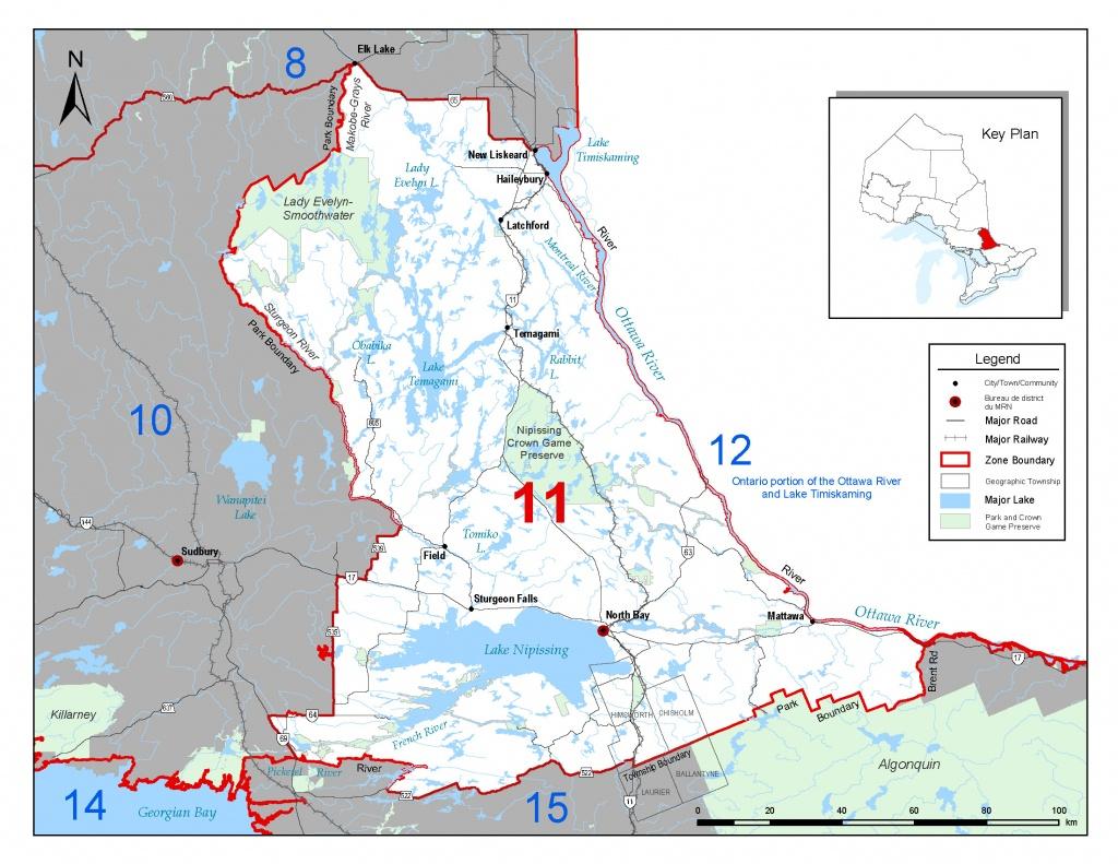 Fisheries Management Zone 11 (Fmz 11) | Ontario.ca - Northern California Fishing Map