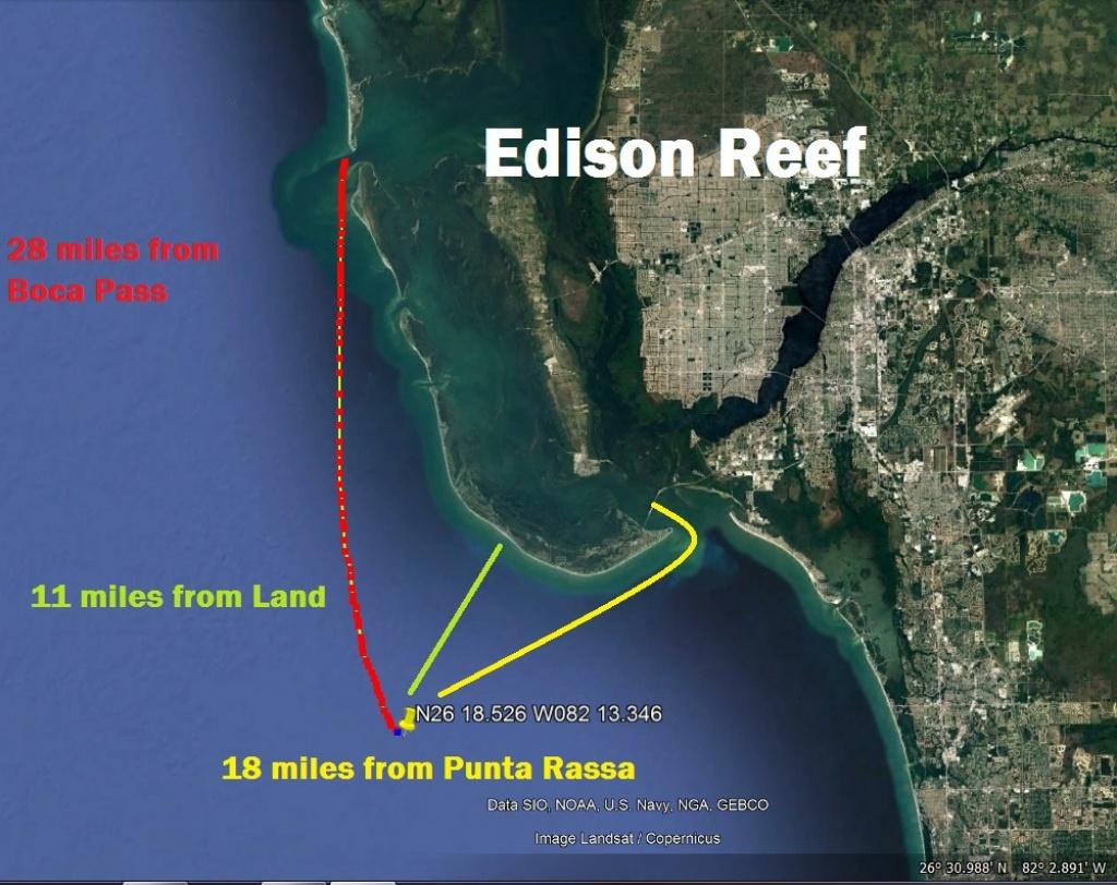Fishing Reefs Locations,latitude Longitude, Fishing Information - Florida Reef Map