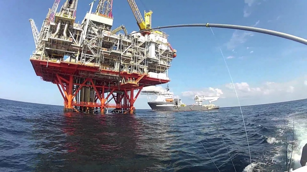 Fishing The Oil Rigs - Youtube - Texas Oil Rig Fishing Map