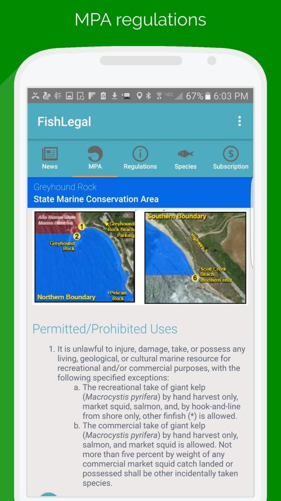 Fishlegal, California Fishing Regulations & Maps For Android - Apk - California Fishing Regulations Map