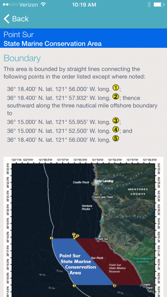 Fishlegal - Mobile App For California Marine Protected Areas And - California Marine Protected Areas Map