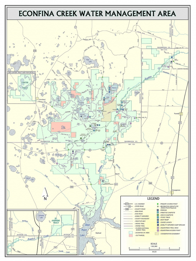 Fitzhugh Carter Tract | Northwest Florida Water Management District - Map Chipley Florida