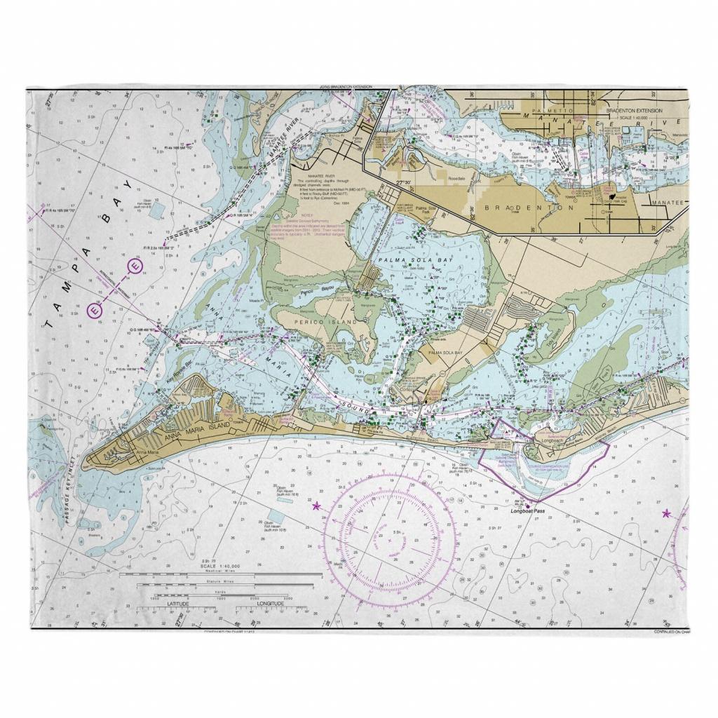 Fl: Anna Maria Island, Fl Nautical Chart Blanket - Nautical Maps Florida
