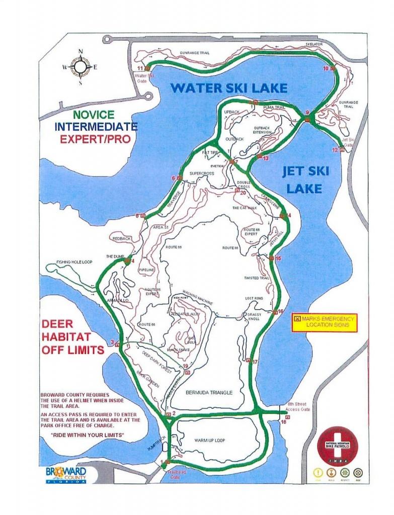 Fl Trails | Florida Mountain Bike Trails: Markham Park - Florida Mountain Bike Trails Map