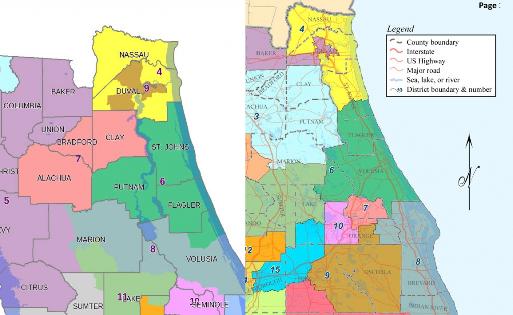 Flagler's Congressional District Would Lose Putnam And Most Of St - Florida District 6 Map