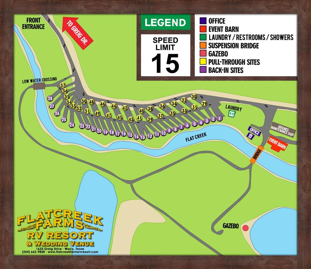 Flat Creek Farms Rv Resort :: Robinson, Waco, Central Texas Area - Texas Campgrounds Map