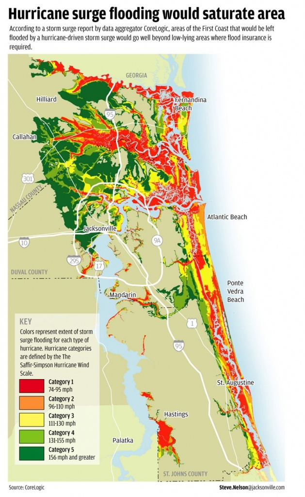 Flood Areas North East Fl.   Florida Living   Florida, Hurricane - Nassau County Florida Flood Zone Map