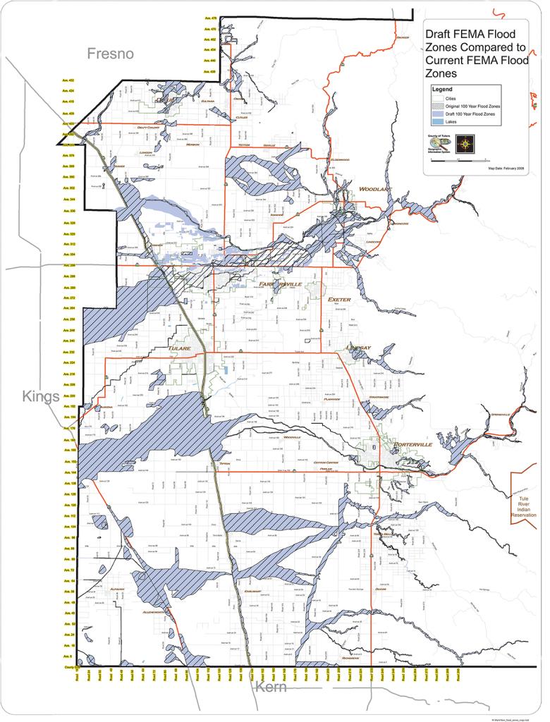 Flood Information - Rma - Visalia California Map