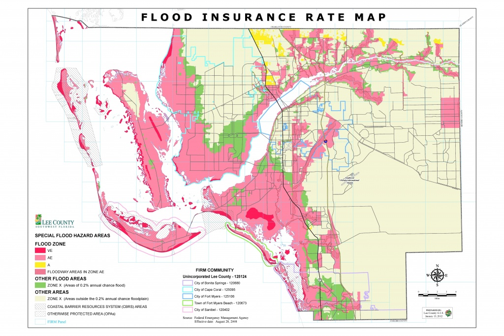 Flood Insurance Rate Maps - Map Of Lee County Florida