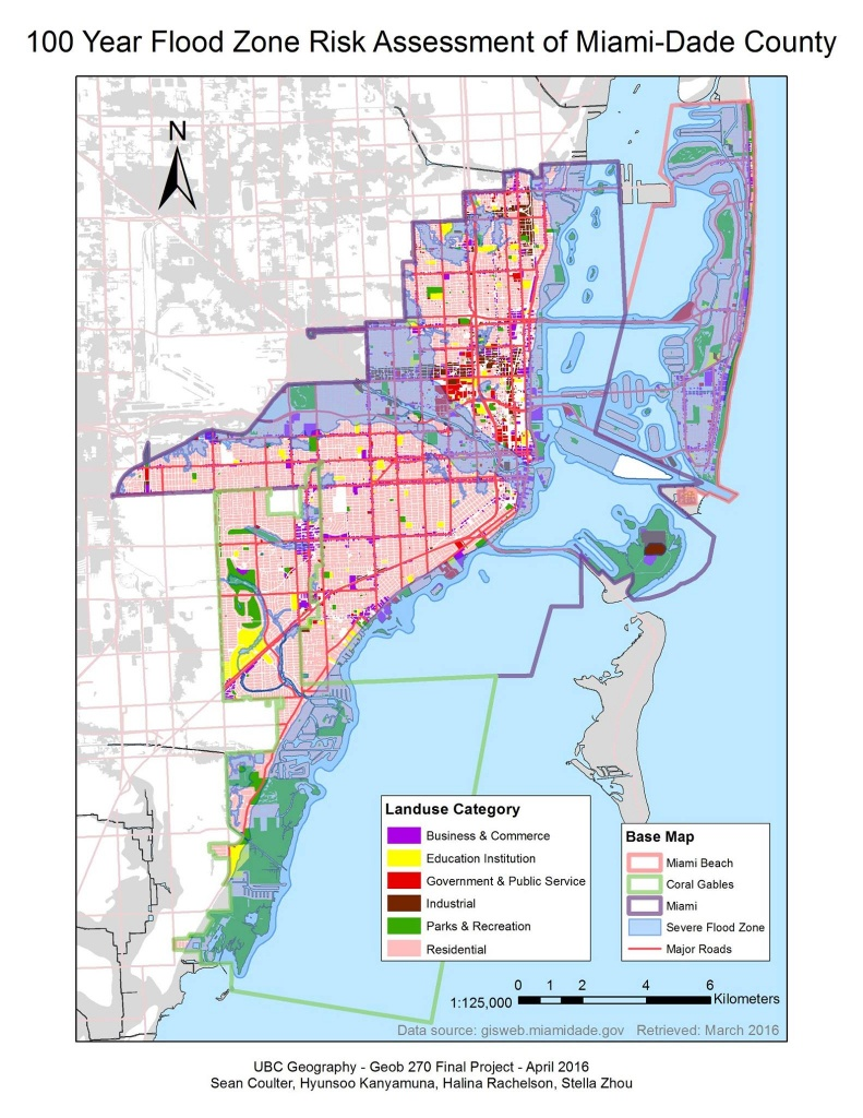 Flood Vulnerability Analysis In Miami, Fl (Final Project) | Halina - 100 Year Flood Map Florida