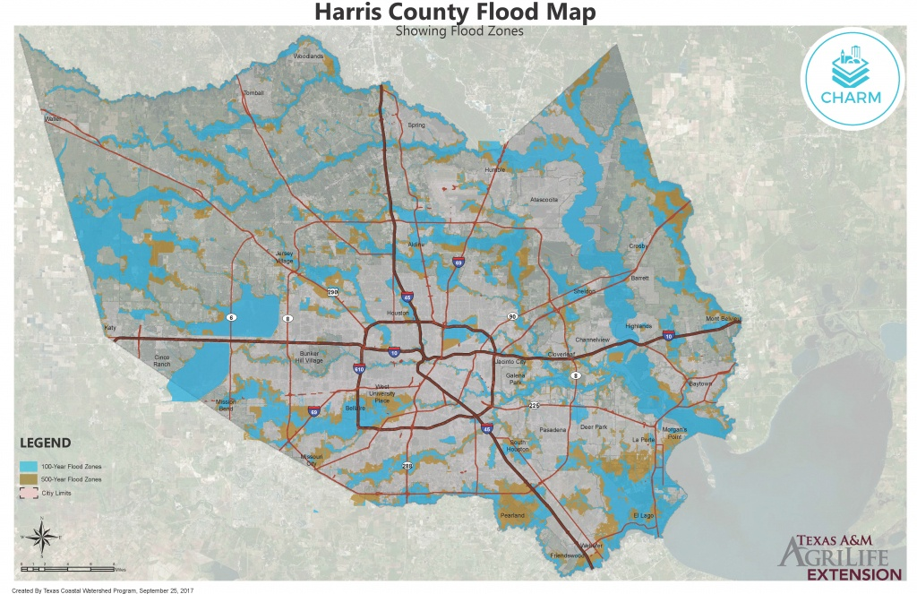 Flood Zone Maps For Coastal Counties | Texas Community Watershed - Map Of Flooded Areas In Texas