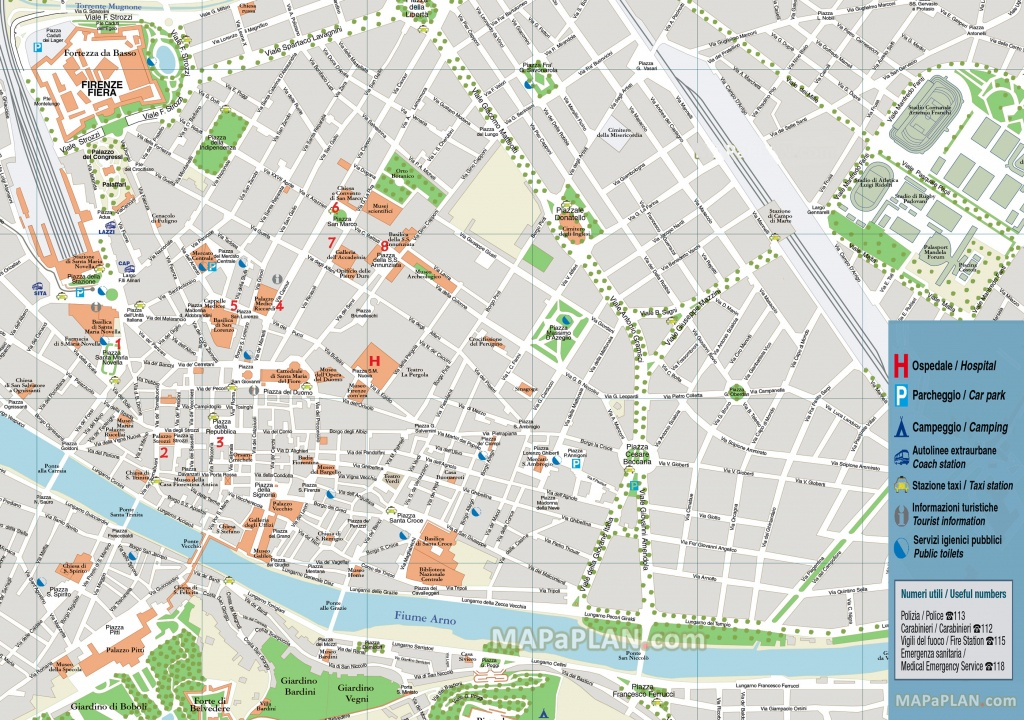 Florence Attractions Map Pdf - Free Printable Tourist Map Florence - Printable Map Of Florence