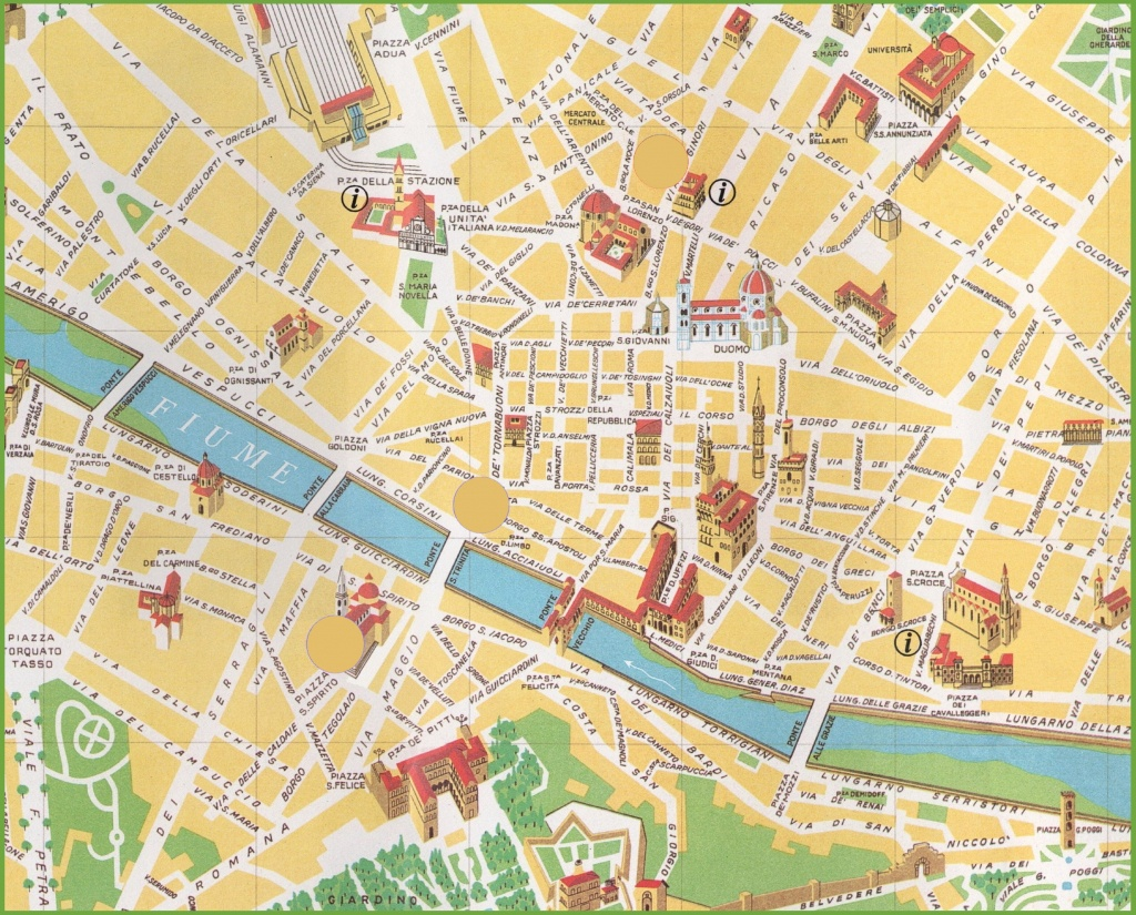 Florence City Centre Map - Florence City Map Printable