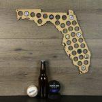 Florida Beer Cap Map Beer Cap Holder Beer Cap State Map Cap | Etsy   Florida Beer Cap Map