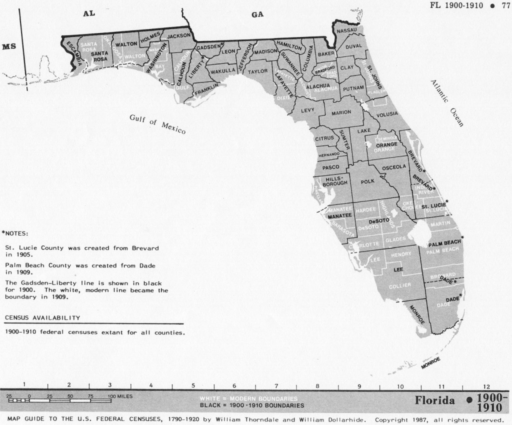 Florida Census Maps 1830 - 1920 - Florida Map 1900