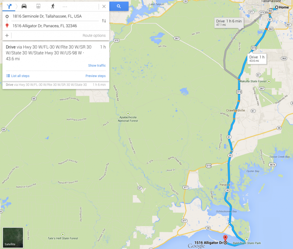 Florida Coal Cracker Chronicles: Sunday's Walk On The Beach - At - Alligator Point Florida Map